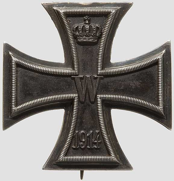 Eisernes Kreuz 1914 - Kreuz 1. Klasse mit Trägergravur