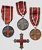 Rote Kreuz Medaillen - Kompletter Satz