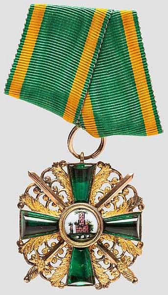 Orden vom Zähringer Löwen - Ritterkreuz 1. Klasse mit Schwertern in Weltkriegsausführung