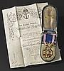 Konteradmiral und Held von Lissa Carl Ritter von Kern - Orden Unserer Lieben Frau von Guadalupe im Etui mit Urkunde