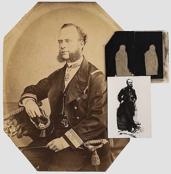 Konteradmiral und Held von Lissa Carl Ritter von Kern - große Portraitfotografie und Bild-Glasplatten