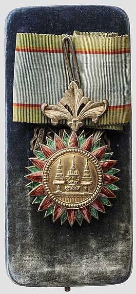 Konteradmiral und Held von Lissa Carl Ritter von Kern - Kommandeursdekoration des Ordens der Siamesischen Krone im Etui