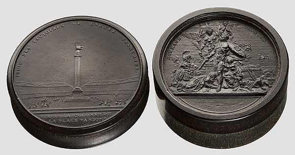 Zwei Schnupftabakdosen, Paris um 1800