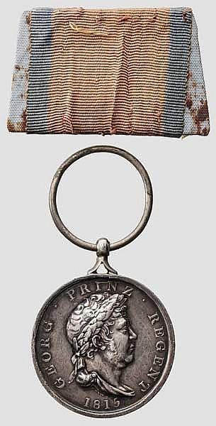 Waterloo Medaille für Husar Heinrich Bohde