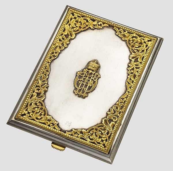 Haile Selassie (1892-1975) - Geschenk-Tabatiere aus Silber/Gold