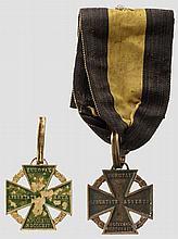 Armeekreuz 1813/1814 (Kanonenkreuz) - zwei Kreuze