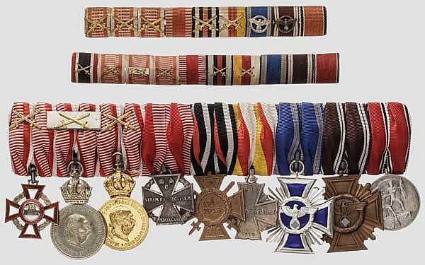 Ordensschnalle eines Frontkämpfers des 2. Weltkrieges und NSDAP-Gründungsmitgliedes