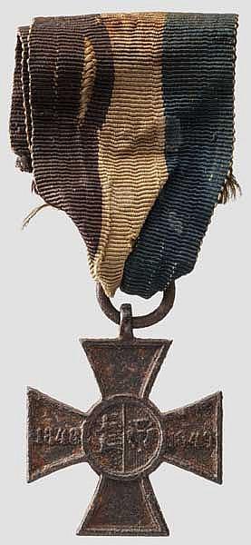 Erinnerungskreuz für die schleswig-holsteinische Armee 1848/1849