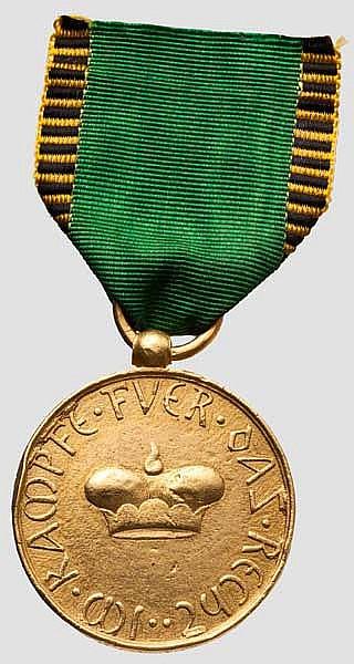 Kriegsdenkmünze 1814/1815 - Medaille für Offiziere in Gold