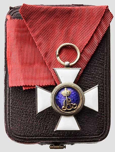 Hausorden vom Weißen Falken oder der Wachsamkeit - Ritterkreuz 2. Abteilung unter Großherzog Carl Alexander bis 1901 im Etui