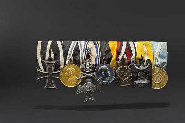 Hauptmann Richard von Berg - Auszeichnungs- und Urkundengruppe Goldene Tapferkeitsmedaille