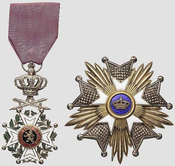 Leopoldsorden - Ritterkreuz mit Schwertern und Kronenorden Stern