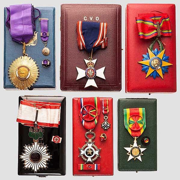 Auszeichnungsgruppe eines deutschen Botschafters der 50er/60er Jahre des 20. Jhdts.