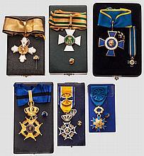 Auszeichnungsgruppe eines deutschen Botschafters der 60er/80er Jahre des 20. Jhdts.