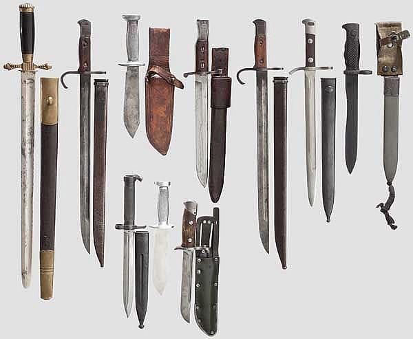 Zehn Blankwaffen