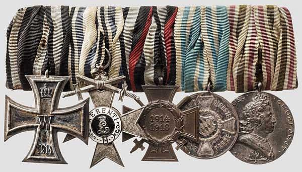 Ordensschnalle eines Unteroffiziers des 2. Chevauxlegers-Regiments