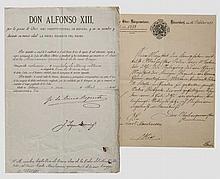 Krupp-Direktor Carl Menshausen - Verleihungsurkunde zur III. Klasse des Königlich spanischen Militär Verdienst-Ordens 1893