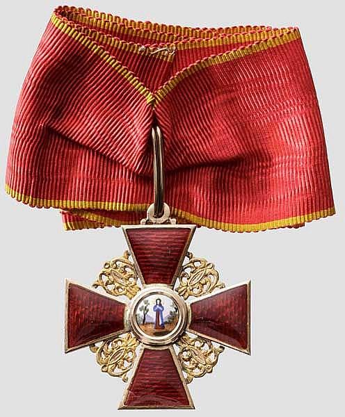 Krupp-Direktor Carl Menshausen - Kaiserlich russischer Orden der Heiligen Anna - Kreuz 2. Klasse in Albert Keibel-Fertigung 1903