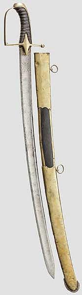 Säbel für Offiziere der Husaren, datiert 1795