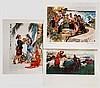 Zehn Drucke mit Propagandamotiven, China, 20. Jhdt.