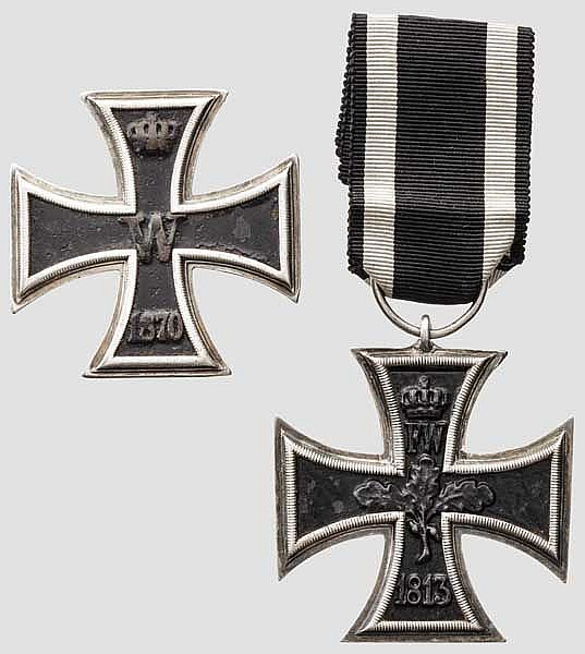 Eisernes Kreuz 1870 - Kreuz 1. Klasse in Wagner-Fertigung