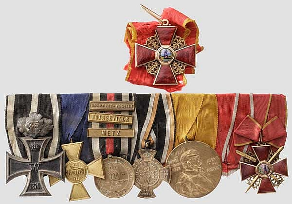 Generalleutnant Franz von Porembsky - Ordensschnalle und Kaiserlich russischer St. Anna-Orden