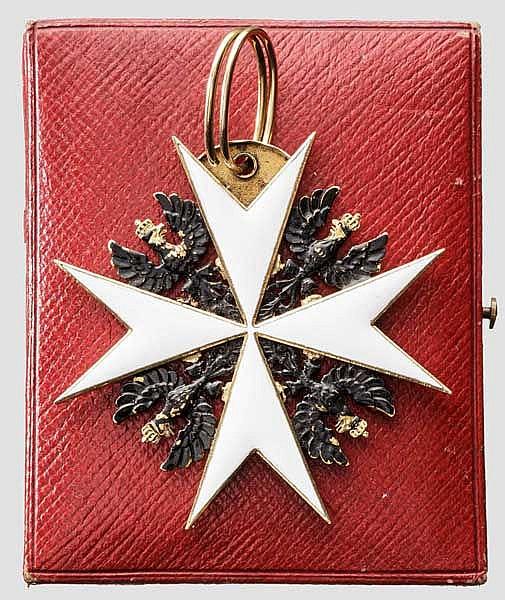 Johanniterorden - Kreuz zum Ehrenritter im Etui um 1890