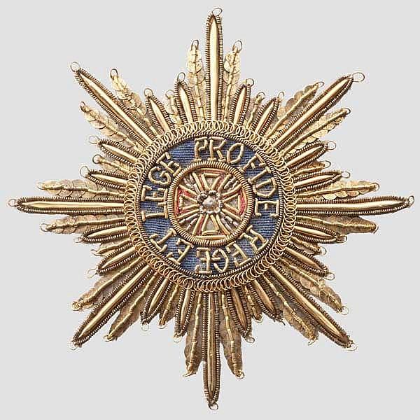 Kaiserlich-Königlicher Orden vom Weißen Adler - Bruststern in gestickter Form