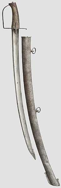 Säbel für Mannschaften der Leichten Kavallerie, wohl England, Ende 18. Jhdt.