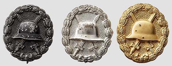 Verwundetenabzeichen 1918 - Drei Exemplare