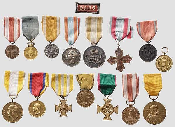 Sammlung Ehrenzeichen bis Erster Weltkrieg - 15 Exemplare