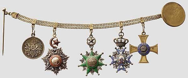 Bagdadbahn-Oberingenieur J.L. Winkler - Auszeichnungsgruppe und Miniaturen