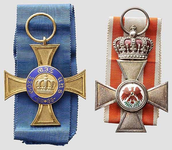 Bagdadbahn-Oberingenieur J.L. Winkler - Roter Adler Orden 4. Klasse mit der Krone und Kronenorden 4. Klasse