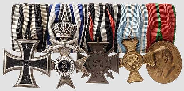 Ordensschnalle Bayern und weitere Auszeichnungen