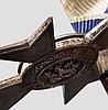 Ordensschnalle mit Militär Verdienst-Kreuz 2. Klasse des 2. Modells 1905 - 1913