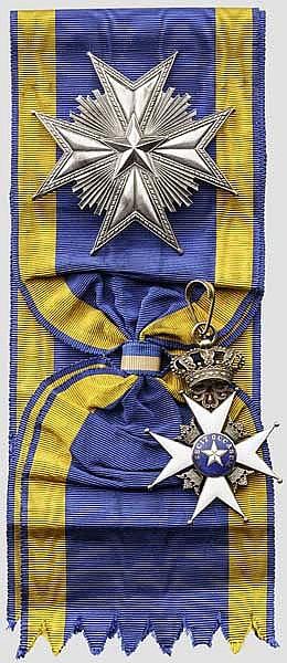 Königlicher Nordstern-Orden (Kungliga Nordstjärneorden) - Großkreuzsatz in Carlman-Fertigung