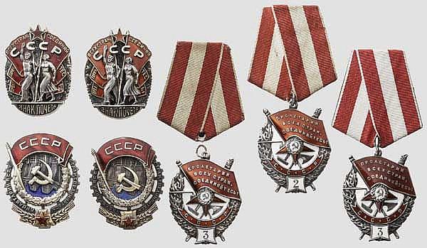 Sieben Auszeichnungen, Sowjetunion ab 1942