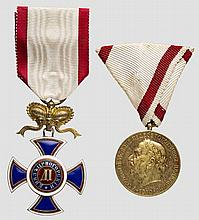 Geheimer Hofrat Professor Paul Lindenberg - Danilo Orden und Krönungs-Jubiläums-Medaille