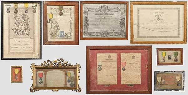 Médaille Militaire - Sammlung verschiedener Trägergruppen aus unterschiedlichen Epochen