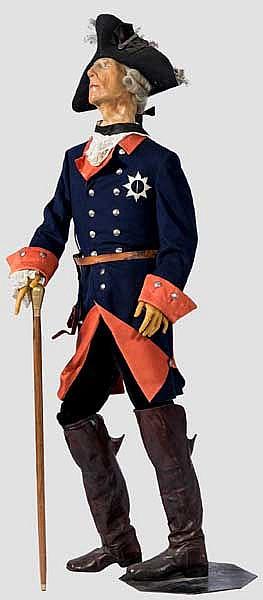 Wachsfigur von Friedrich dem Großen, König von Preußen