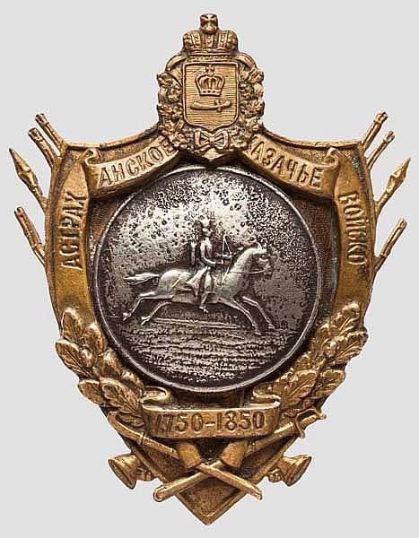 Jubiläumsabzeichen des Astrakhan-Kosakenheeres, Russland um 1912-15
