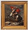 Bonaparte beim Überschreiten der Alpen am Großen Sankt Bernhard - Portrait nach Jacques-Louis David (1748 - 1825)