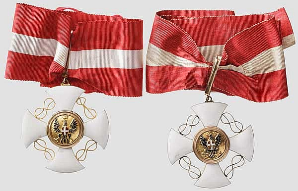Krupp-Direktor Carl Menshausen - Königlicher Orden der Krone von Italien - Kommandeurkreuze 1894