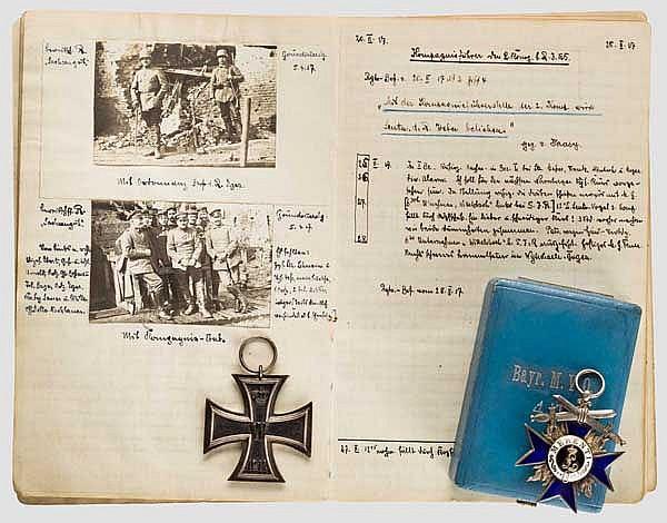Leutnant Jakob Weber vom Reserve Infanterie Regiment 5 - Tagebuch, MVO 4. Klasse im Etui