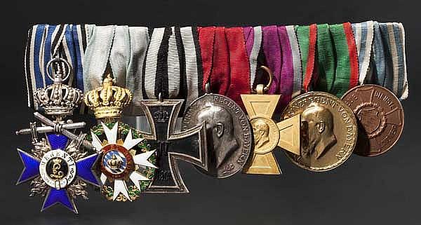 Zivilverdienstorden der Bayerischen Krone - Ritterkreuz an Ordensschnalle