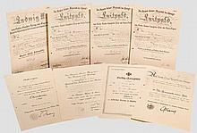 Große Urkundengruppe Generaloberarzt Dr. Otto Broxner