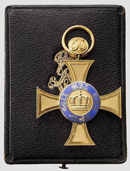Kronenorden - Kreuz 4. Klasse mit der Jubiläumszahl