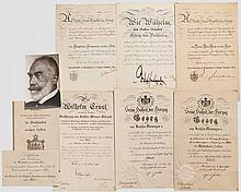Großer Urkunden- und Dokumenten-Nachlass General-Kommissions-Präsident Emil Ludwig Konrad von Behr