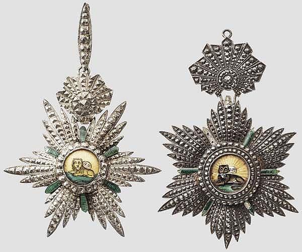 Sonnen- und Löwenorden - zwei Dekorationen der 3. Klasse