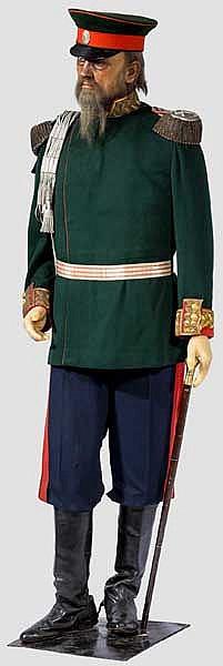 Wachsfigur eines zaristischen Großfürsten oder Feldmarschalls
